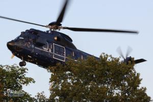 Löscheinsatz Super Puma der Bundespolizei